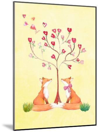 Love Fox Animal-Grab My Art-Mounted Art Print