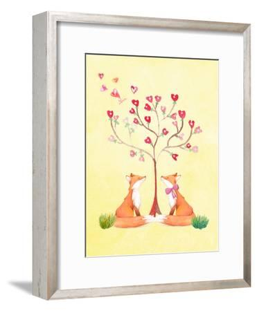 Love Fox Animal-Grab My Art-Framed Art Print