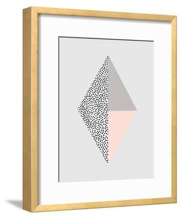 Blackdots-Nanamia Design-Framed Art Print