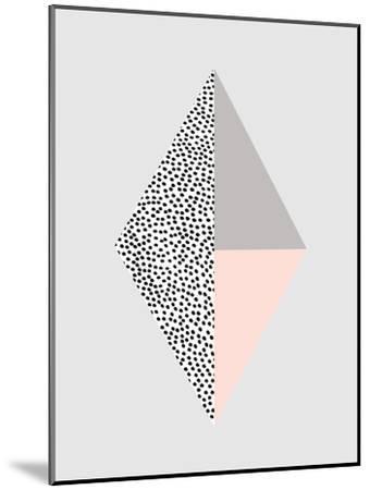 Blackdots-Nanamia Design-Mounted Art Print