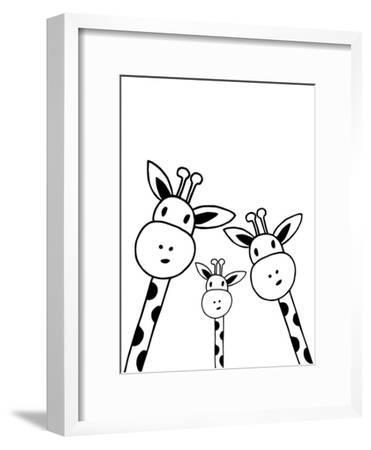 Giraffe-Nanamia Design-Framed Art Print