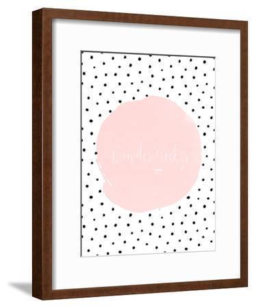 Typography Dots Shabby Vintage 2-Grab My Art-Framed Art Print