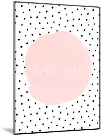 Typography Dots Shabby Vintage 2-Grab My Art-Mounted Art Print