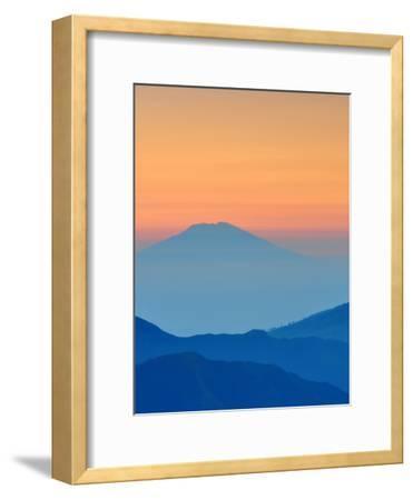 Sundown In Mountains Landscape-Grab My Art-Framed Art Print