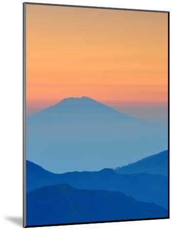 Sundown In Mountains Landscape-Grab My Art-Mounted Art Print