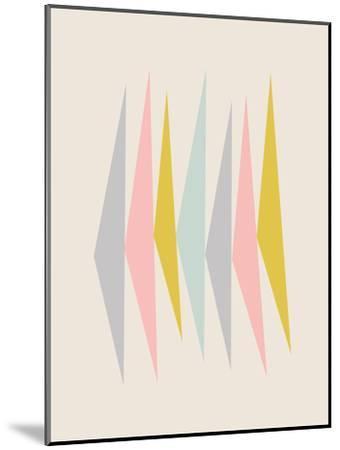Pasteltriangle-Nanamia Design-Mounted Art Print
