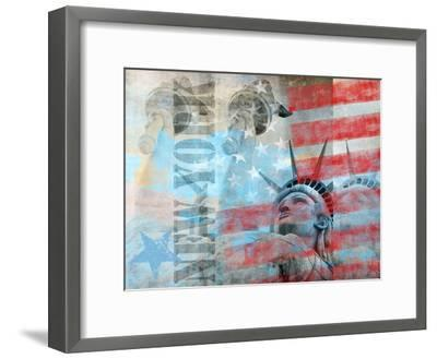 Statue Of Liberty 2-Lebens Art-Framed Art Print