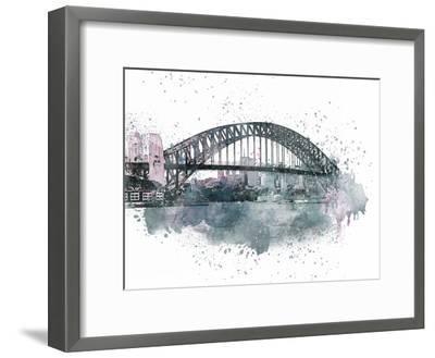 Sydney Harbor Bridge 2-Lebens Art-Framed Art Print