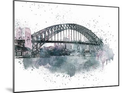 Sydney Harbor Bridge 2-Lebens Art-Mounted Art Print