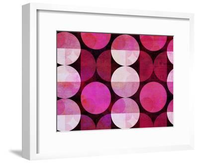 Red Circle Pattern-Lebens Art-Framed Art Print