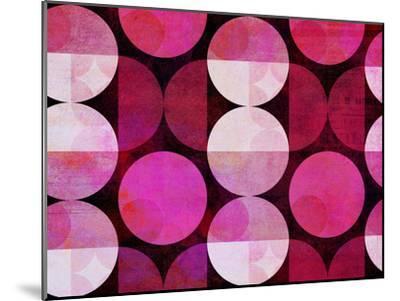 Red Circle Pattern-Lebens Art-Mounted Art Print