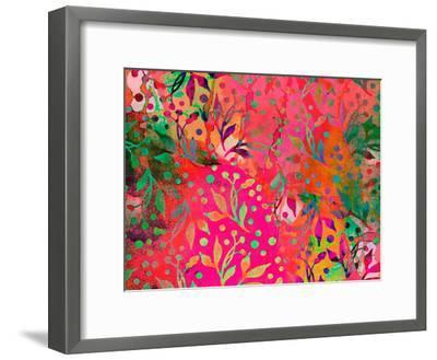 Color Watercolor Leaf Pattern-Lebens Art-Framed Art Print