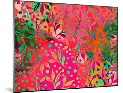 Color Watercolor Leaf Pattern-Lebens Art-Mounted Art Print