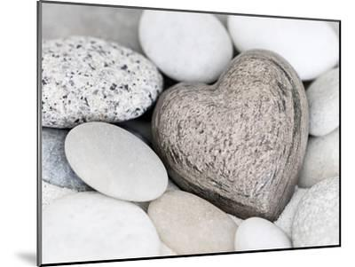Stone Heart-Lebens Art-Mounted Art Print