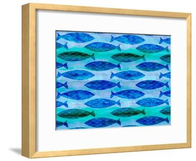 Fish Pattern-Lebens Art-Framed Art Print