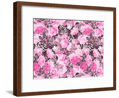 Vintage Flower Pink-Lebens Art-Framed Art Print