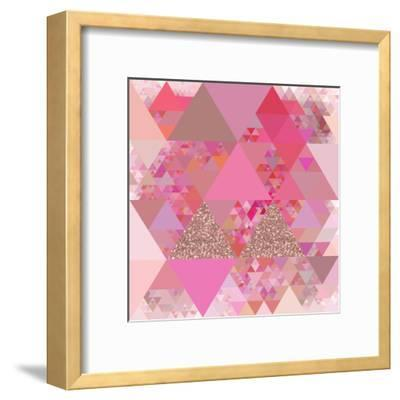 Triangles Abstract Pattern - Square 13-Grab My Art-Framed Art Print