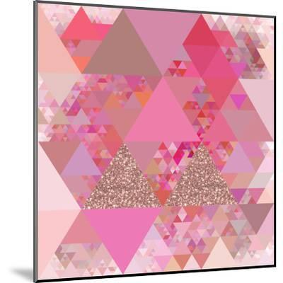 Triangles Abstract Pattern - Square 13-Grab My Art-Mounted Art Print