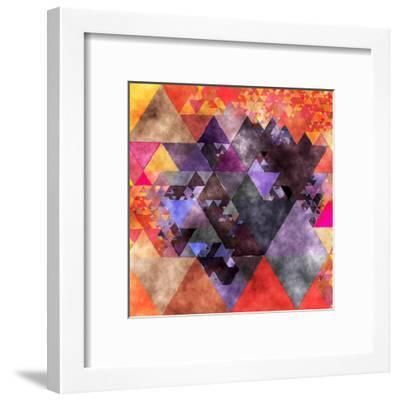 Triangles Abstract Pattern - Square 14-Grab My Art-Framed Art Print