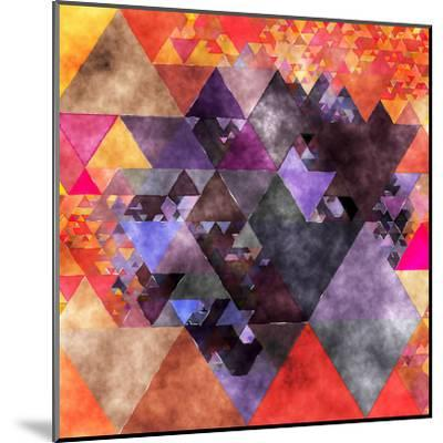 Triangles Abstract Pattern - Square 14-Grab My Art-Mounted Art Print