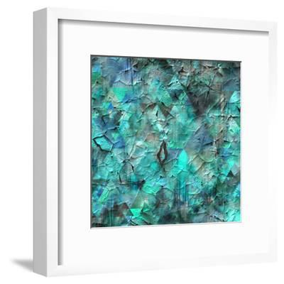 Triangles Abstract Pattern - Square 28-Grab My Art-Framed Art Print