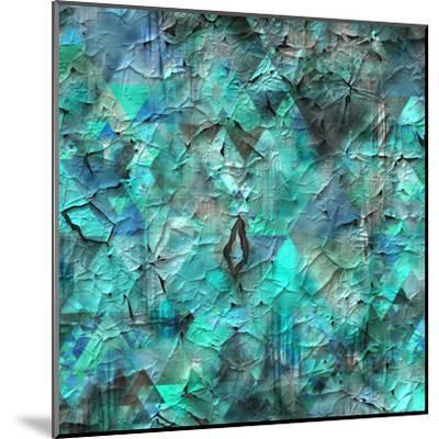 Triangles Abstract Pattern - Square 28-Grab My Art-Mounted Art Print