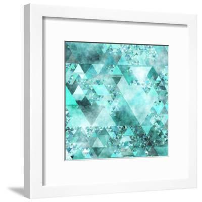 Triangles Abstract Pattern - Square 15-Grab My Art-Framed Art Print