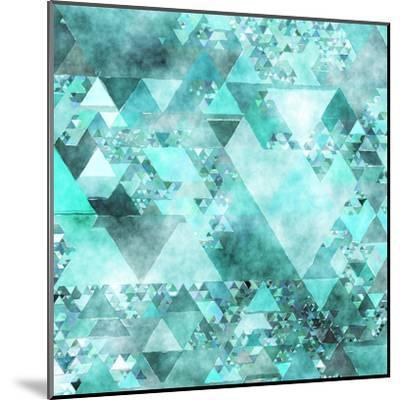 Triangles Abstract Pattern - Square 15-Grab My Art-Mounted Art Print