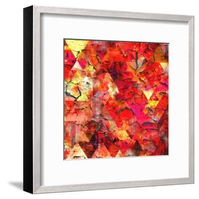 Triangles Abstract Pattern - Square 29-Grab My Art-Framed Art Print