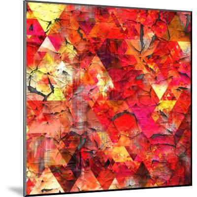 Triangles Abstract Pattern - Square 29-Grab My Art-Mounted Art Print