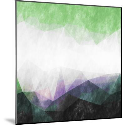 Triangles Abstract Pattern- Square-Grab My Art-Mounted Art Print
