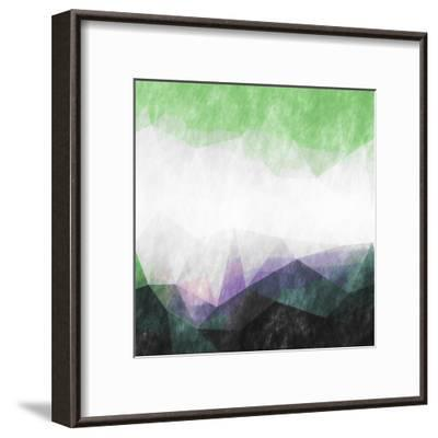 Triangles Abstract Pattern- Square-Grab My Art-Framed Art Print