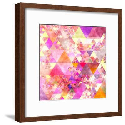 Triangles Abstract Pattern - Square 18-Grab My Art-Framed Art Print