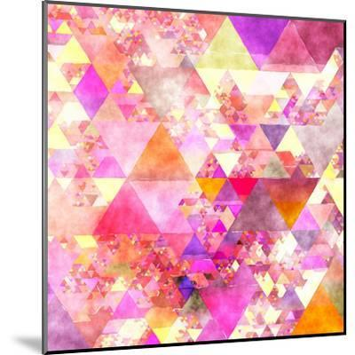 Triangles Abstract Pattern - Square 18-Grab My Art-Mounted Art Print