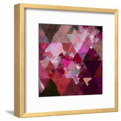 Triangles Abstract Pattern - Square 19-Grab My Art-Framed Art Print