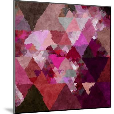 Triangles Abstract Pattern - Square 19-Grab My Art-Mounted Art Print