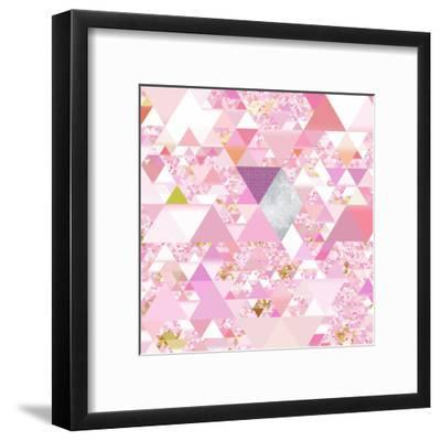 Triangles Abstract Pattern - Square 25-Grab My Art-Framed Art Print