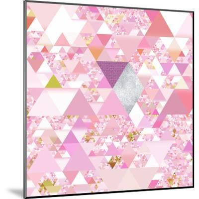 Triangles Abstract Pattern - Square 25-Grab My Art-Mounted Art Print
