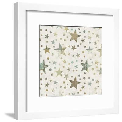Patchwork Star Pattern - Square-Lebens Art-Framed Art Print