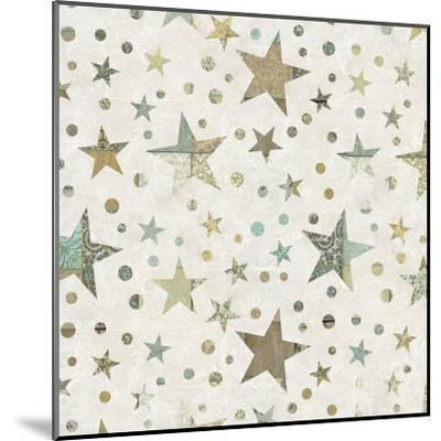 Patchwork Star Pattern - Square-Lebens Art-Mounted Art Print