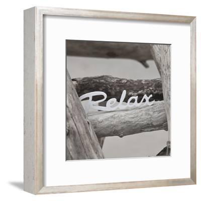 Relax At The Beach - Square-Lebens Art-Framed Art Print