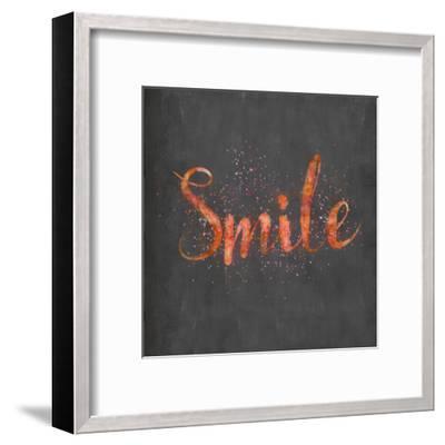 Smile - Square-Lebens Art-Framed Art Print