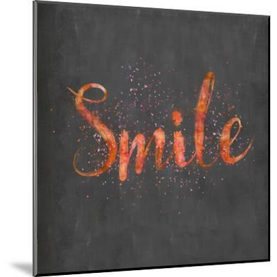 Smile - Square-Lebens Art-Mounted Art Print