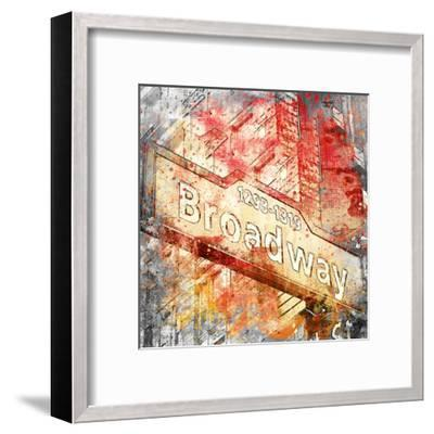 Broadway - Square 2-Lebens Art-Framed Art Print