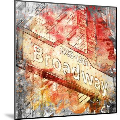 Broadway - Square 2-Lebens Art-Mounted Art Print