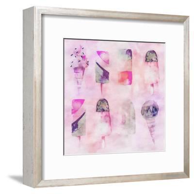 Popsicle Icecream Watercolor - Square 2-Lebens Art-Framed Art Print