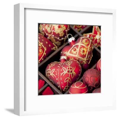 Red Christmas - Square-Lebens Art-Framed Art Print