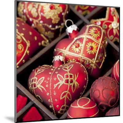Red Christmas - Square-Lebens Art-Mounted Art Print