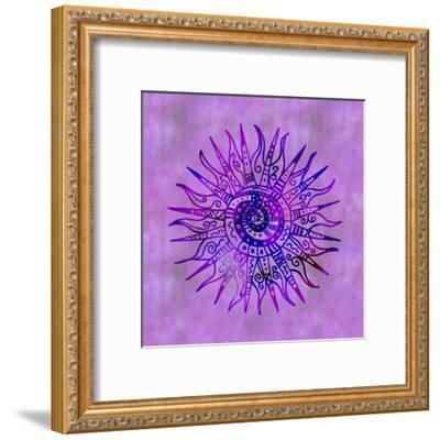 Sun Doodle Purple - Square-Lebens Art-Framed Giclee Print