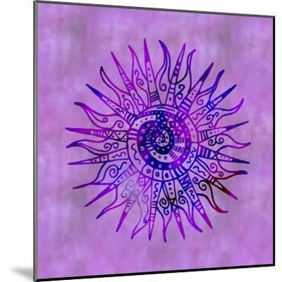 Sun Doodle Purple - Square-Lebens Art-Mounted Giclee Print